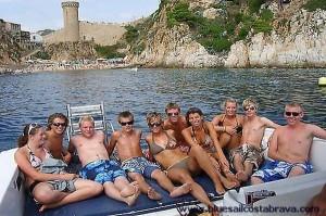 Hen & Stag Parties Tossa de Mar, spain. Rent a Boat